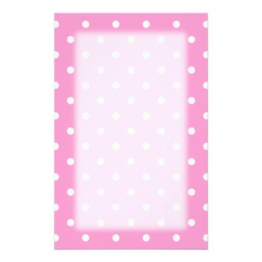 wei e punkte rosa tupfen muster bedrucktes papier zazzle. Black Bedroom Furniture Sets. Home Design Ideas