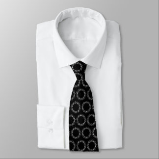 Weiße Punkte und Linien auf Schwarzem Individuelle Krawatten