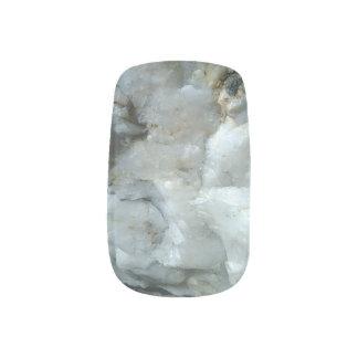 weiße Quarznagelabziehbilder Minx Nagelkunst