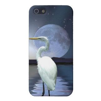 Weiße Reiher-u. Mond-wild lebende Tiere iPhone iPhone 5 Schutzhülle