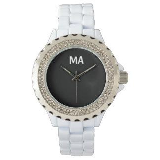 Weiße Rhinestone-Uhr MagicAmour Armbanduhr