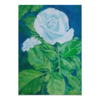 Weiße Rose 8,9 X 12,7 Cm Einladungskarte