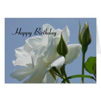Weiße Rose - alles Gute zum Geburtstag Karte