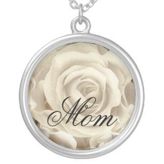 Weiße Rose, Blumen-, schöne Halskette