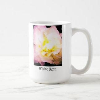 Weiße Rose Coffe oder Tee-Tasse Tasse
