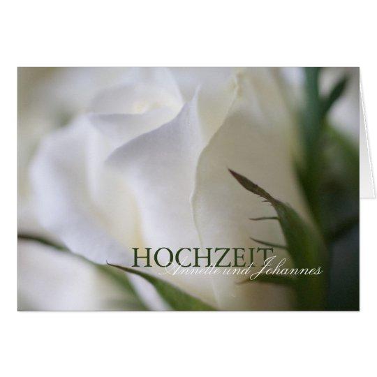 Weiße Rose • Hochzeits-Einladung Karte