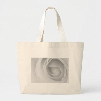 Weiße Rose Jumbo Stoffbeutel