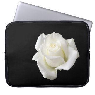 weiße Rose Laptop Sleeve