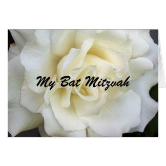 Weiße Rose, mein Schläger Mitzvah Karte