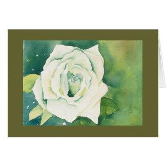Weiße Rose Notecard Karte