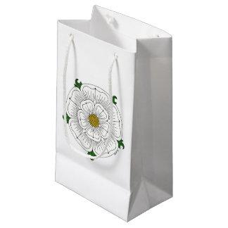 Weiße Rose von York Kleine Geschenktüte
