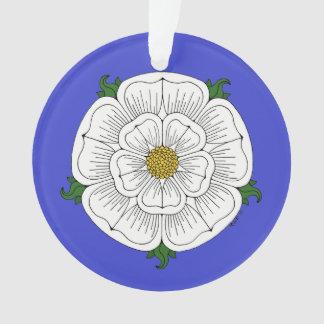 Weiße Rose von York Ornament