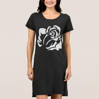Weiße Rosen-Blüte kundengerecht Kleid