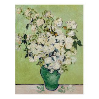 Weiße Rosen durch Van Gogh Postkarte