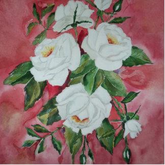 Weiße Rosen Photostatue