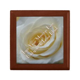 Weiße Rosen-Geschenkboxen-personalisierte Blumen-K