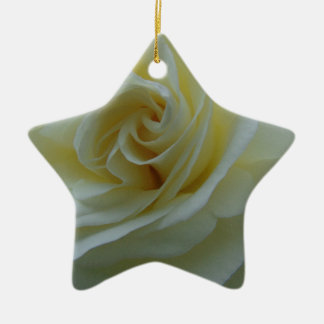 Weiße Rosen-Mitte Keramik Ornament