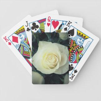 Weiße Rosen-Tasse Bicycle Spielkarten