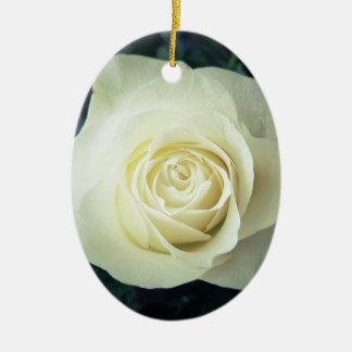 Weiße Rosen-Tasse Keramik Ornament