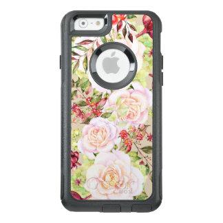 Weiße Rosen u. bunte Blumen OtterBox iPhone 6/6s Hülle