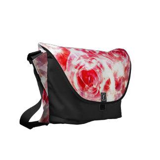 weiße Rote Rosen Bote-Tasche Kurier Taschen