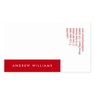 Weiße rote zeitgenössische Minimalistic Visitenkartenvorlagen