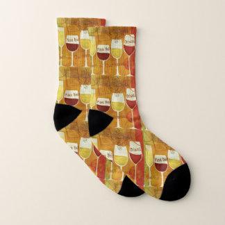Weiße Rotwein-Pinot Chardonnay Mann-Frauen-Socken Socken