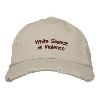 Weiße Ruhe ist justierbarer Hut der Gewalt