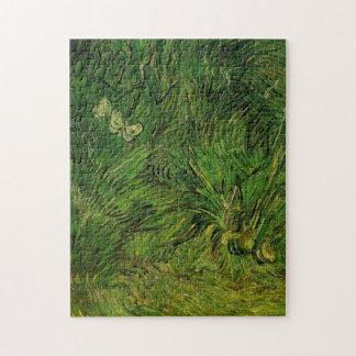 Weiße Schmetterlinge Van Gogh zwei, Vintage feine Puzzle