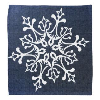 Weiße Schneeflocke auf Blau Halstuch