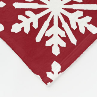Weiße Schneeflocke Fleecedecke