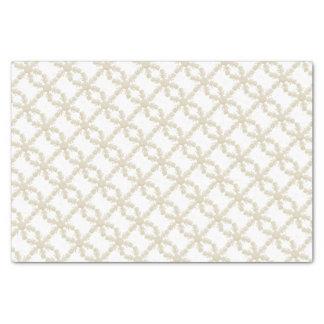 Weiße Schneeflocke Seidenpapier