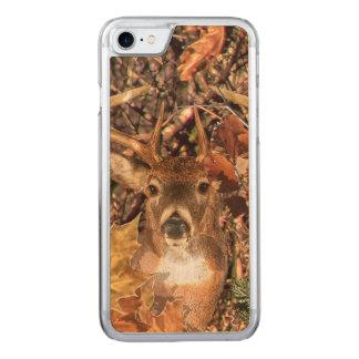 Weiße Schwanz-Rotwild-Kopf-Fall-Energie Spirited Carved iPhone 8/7 Hülle