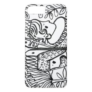 weiße schwarze Garten-Liebe IPHONE iPhone 8 Plus/7 Plus Hülle