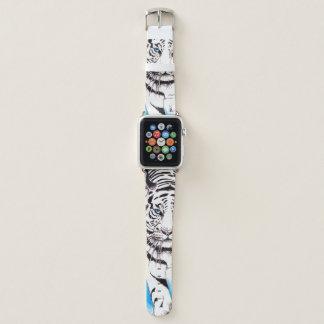 Weiße sibirischer Tiger-Sau Apple Watch Armband