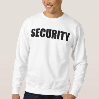 Weiße Sicherheits-Sweatshirtfront und -rückseite Sweatshirt