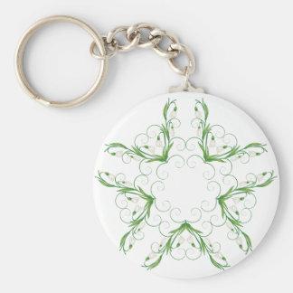 Weiße Snowdrop Blumen 2 Schlüsselanhänger