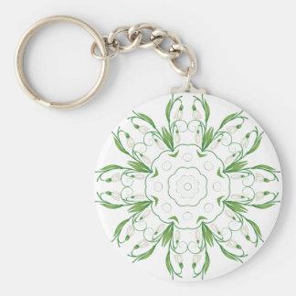Weiße Snowdrop Blumen 3 Schlüsselanhänger
