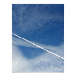 weiße Spitze auf dem Himmel Fotodruck
