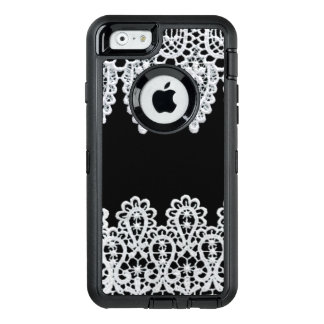 Weiße Spitze bildet eine empfindliche Grenze gegen OtterBox iPhone 6/6s Hülle