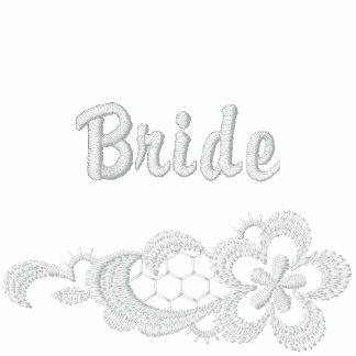 Weiße Spitze-Hochzeit - Braut