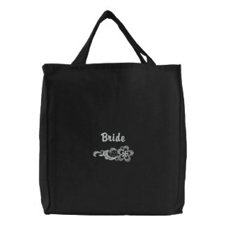 Weiße Spitze-Hochzeit - Braut-Tasche Bestickte Tragetasche