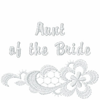 Weiße Spitze-Hochzeit - Tante der Braut