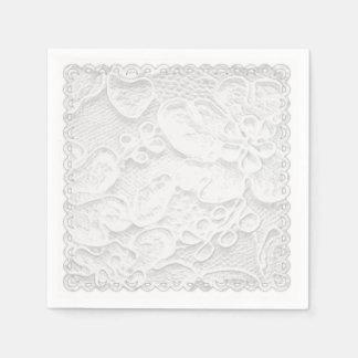 Weiße Spitze Papierserviette