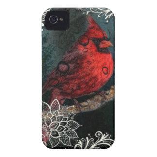 Weiße Spitze ursprünglicher Weihnachtsrot-Kardinal iPhone 4 Cover