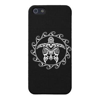 Weiße Stammes- Schildkröte iPhone 5 Hülle