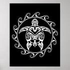 Weiße Stammes- Schildkröte Poster