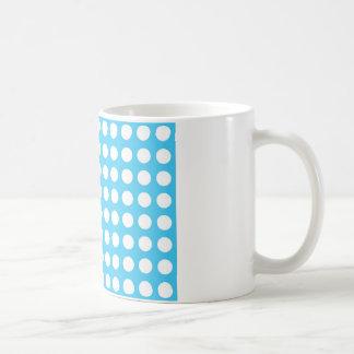 Weiße Stellen auf mittlerem Blau Kaffeetasse