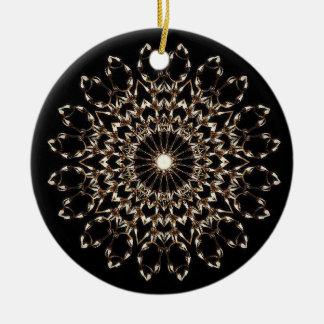 Weiße Stern-Licht-Verzierung Keramik Ornament