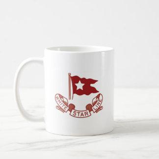 Weiße Stern-Linie Kaffeetasse